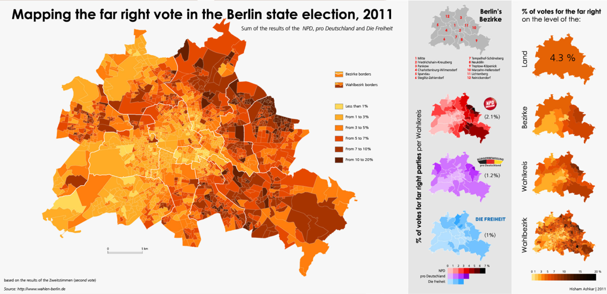 Mapping the far right vote in the Berlin state elections, 2011